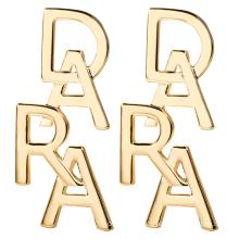 Dara Jewelry Brand Letter D A R A Women Earrings