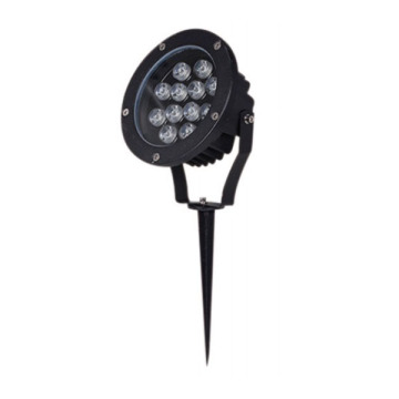 Dimmable Aluminum Black 12W CREE LED Spike Light