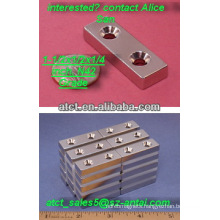 Magnet with screw hole to accept #6 screws/magnetic sheet