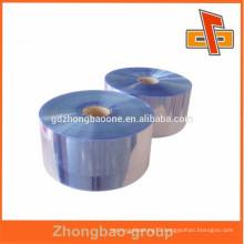 Hot sale! PVC blue film plastic shrink film on roll for bottle or case packaging