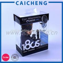Emballage de caisse de téléphone de matériel de PVC taille faite sur commande claire boîte de PVC