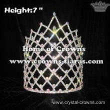 7in Height Wholesale Pageant Crowns With AB Diamonds