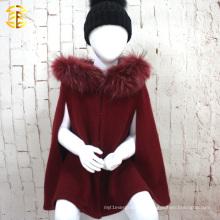 2017 El nuevo estilo de Europa de la manera de la fábrica al por mayor embroma el cabo de la capa de las lanas