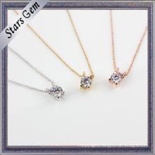 2015 Newest Elegant Cubic Zirconia Setting Fashion Jewelry Necklace