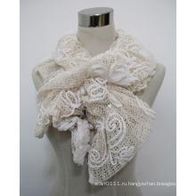Леди мода шнурка полиэфира шарф с акриловые алмазов