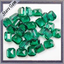 Zirconia cúbica esmeralda de calidad superior de 6 * 8 mm