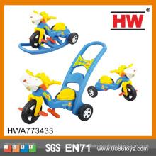Lustige Plastik Dreirad Kinder Spaziergänger Dreirad Schiebe Kinderwagen