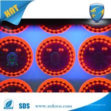 Innovative gedruckte uv Hologramm Aufkleber oder Hologramm UV Tinten Druck