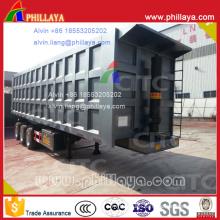 Coal Transporting Backward Tipper Semi Trailer 80t
