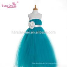 Mädchen Party Tutu Kleid mit Bändern Schärpen Piano Dress Grün Tüll Blumenmädchen Prinzessin Kleid für Kinder Festzug Performance
