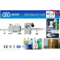 Cap and bottle shrink label inserting machine