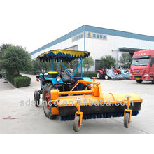 Hydraulic Road Sweeper on tractor