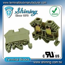 TF-10 Schienenmontage 600V 53A Schraubklemme Klemmenblock Steckverbinder