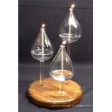 Hitzebeständiger Kerzenhalter Kerzenständer aus Borosilikatglas