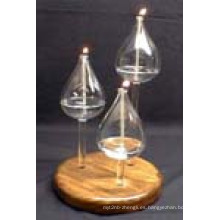 Candelabro Portavelas resistentes al calor hecho por el vidrio de borosilicato