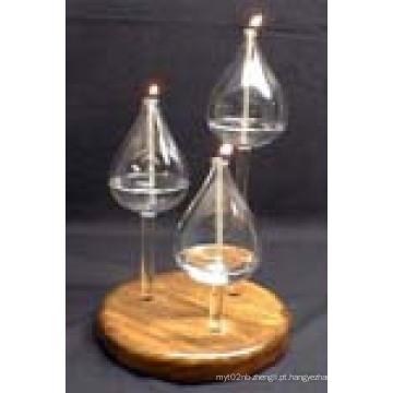 Castiçal de castiçal resistente ao calor feito por vidro de borosilicato
