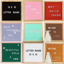 Multi Color 10 x 10 Filz Brief Board mit Ständer, veränderbare Brief Set und Canvas Bag