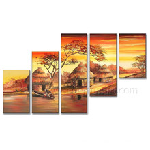Pure Hand Painted African Art Oil Painting for Home Decor (AR-130)