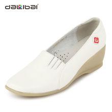 good quality fashionable white leather unique nurse shoes