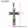 34424  xuping Simple design fashion Stainless Steel jewelry black gun color cross pendant