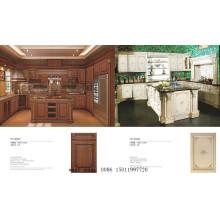 18mm Fancy tablero de MDF vinilo envuelto gabinete de cocina (ZHUV)