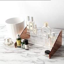 Factory OEM Design Elegant 3 Layers Perfume Bottle Box Acrylic Display Stand
