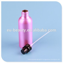 aluminum perfume bottle with screw perfume pump neck:24mm
