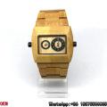 Top-Quality Maple-Wooden Watches Double Movement Quartz Watches Hl14