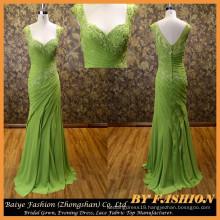 2016 Fashion Green Beautiful Party Dress Evening Dress Night Gown Lady dress For Fat Women