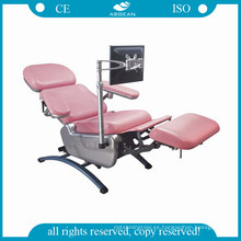 AG-XD104 silla de donante de sangre ajustable en altura equipo eléctrico hospital utilizado