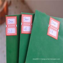 Tampon en caoutchouc de feuille de caoutchouc de couleur verte de 5mm en vente