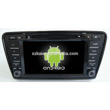Android 4.4 Miroir-lien TPMS DVR 1080P dual core voiture navigateur pour Skoda Octavia A7 avec GPS / Bluetooth / TV / 3G