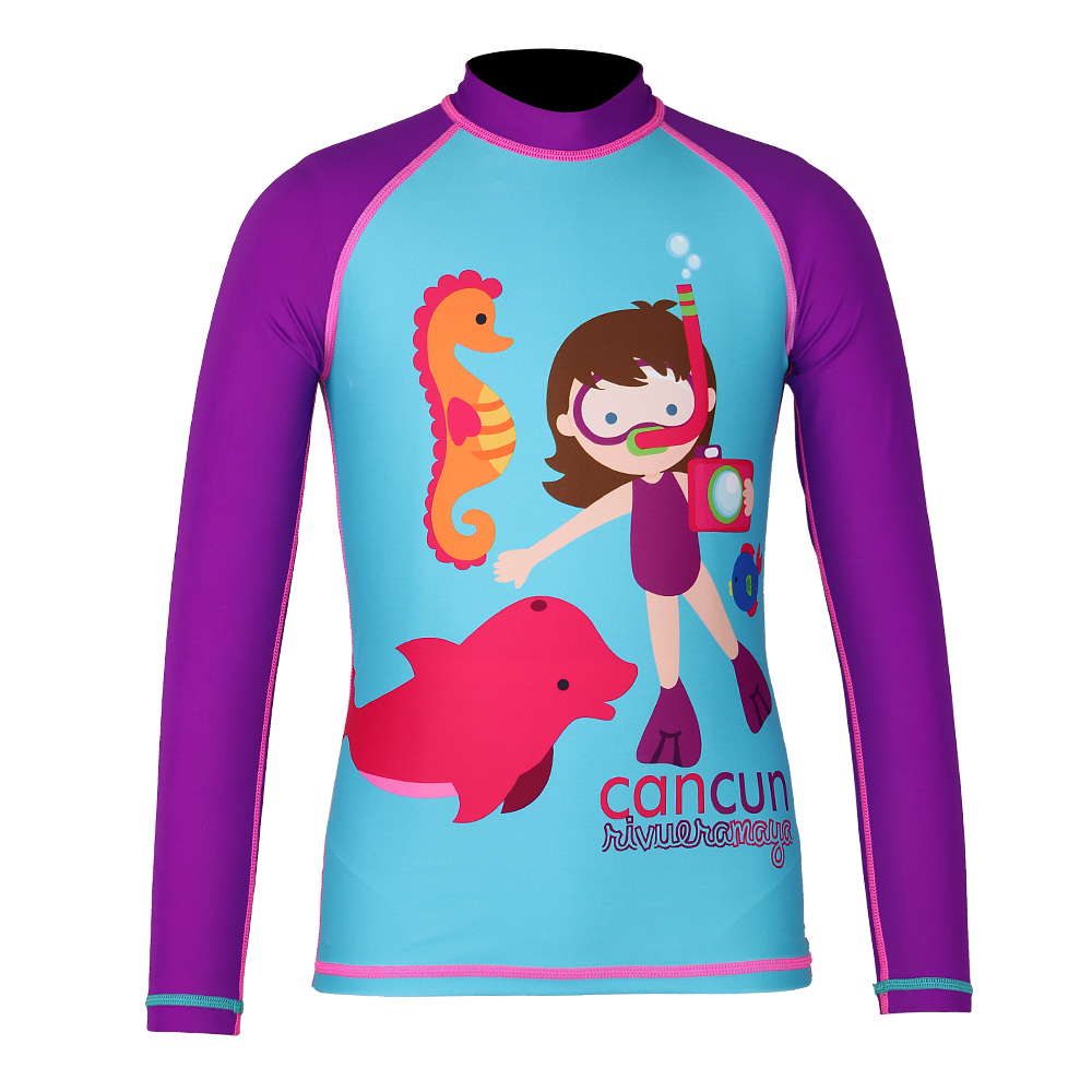 Toddler Girls Long Sleeve Rash Guard