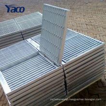 YACHAO steel grating for car wash drain grating, floor trap grating