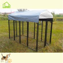 Pluma de perrera para perros de tubo cuadrado grande impermeable al aire libre