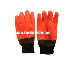 Sandy Finish Schaum Liner PVC Chemical Winter Handschuh-5124.01