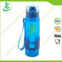Bouteille d'eau pliable et pliable sans silicone BPA