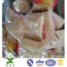Grãos de alho friáveis fritos