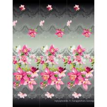 100% polyester imprimé pour textile domestique