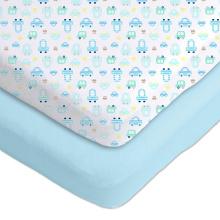 folha de berço elástico luz azul berço folhas logotipo privado personalizar lençol