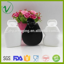 40ml food grade biodegradable HDPE flat soft plastic sauce squeeze bottle