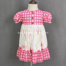 pretty toddler pink floral twirly dress