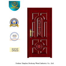 Chinese Style Armoured Security Door with Carving (b-6027)