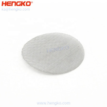 Custom Single-layer mesh high precision stainless steel wire mesh round filter screen disc