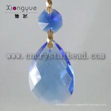 Nouveautés gros bleu pendentif lustre en cristal gouttes
