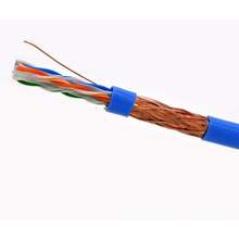 SFTP CAT6 LSZH Câble Fluke Testé Soild Nare Copper Blue
