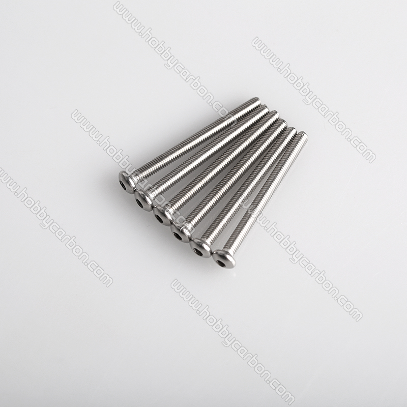 M3x45mm button head stainless steel screw