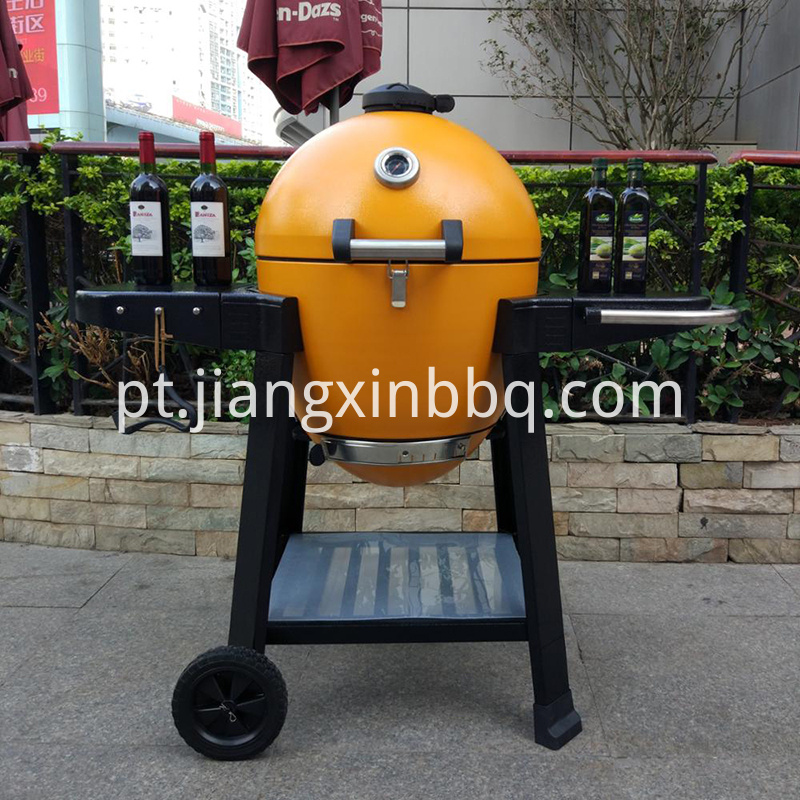 ceramic kamado grill in yellow