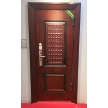 Diseño de puerta exterior de casa de madera de alta calidad