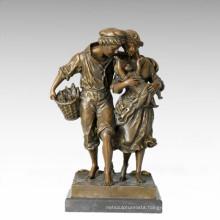 Eastern Life Statue Farm Family Bronze Figure Sculpture TPE-335